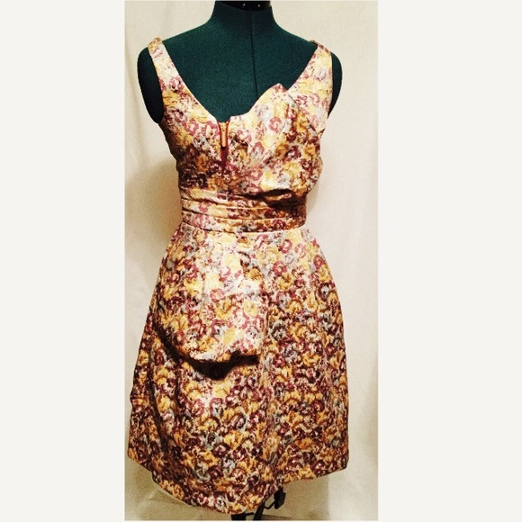 Dresses Zac Posen For Target Gold Formal Dress Size 1 Xs Poshmark